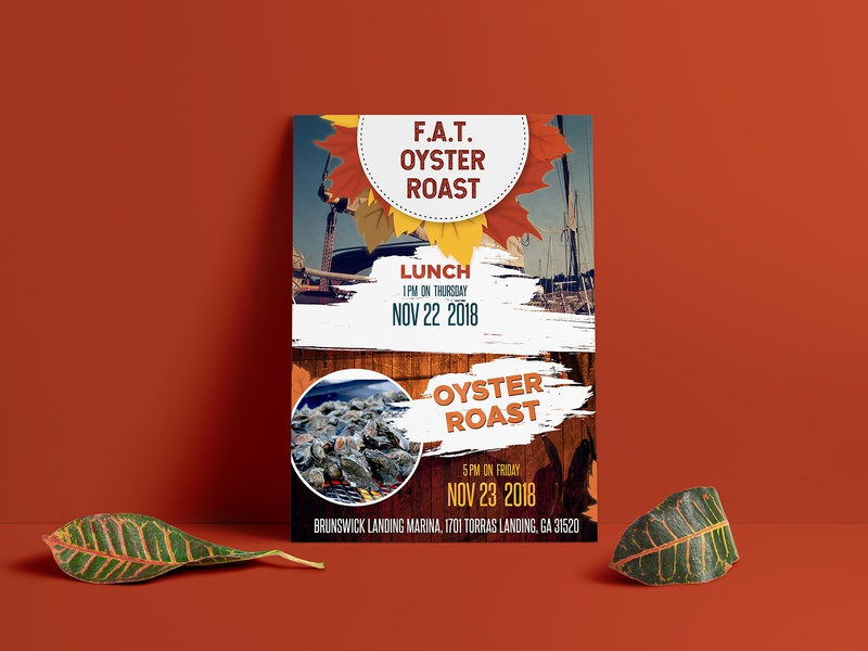 F.A.T. OYSTER ROAST Flyer Design invitation card business ad fab flyer flyers flyer design flyer design advertisement advertise