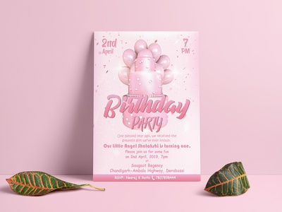 Birthday Invitation Flyer Design