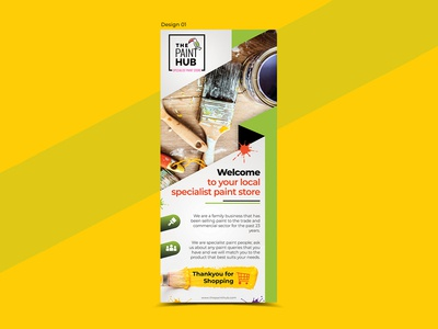 Paint Hub Flyer Design