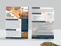 Find Legal Consume Flyer Design