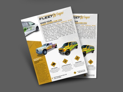 Fleet Wraps Flyer Design