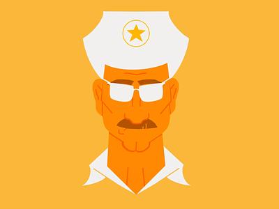 Police Officer yellow police ipad illustration