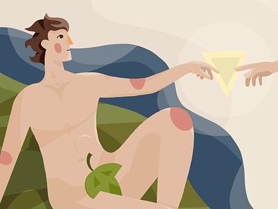 Creation procreate ipad pro adam caracter 2d illustration