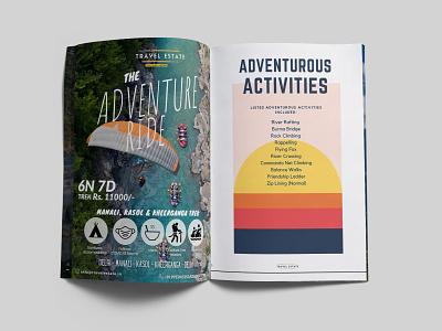 Travel Magazine Designing travel agency traveling brochure design illustration minimal magazine design branding design