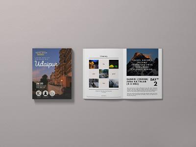 Travel Magazine Designing - 3 minimal travel agency traveling magazine design illustration branding design brochure design