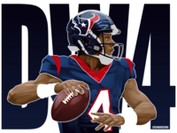 Houston Texans QB Deshaun Watson vector illustration