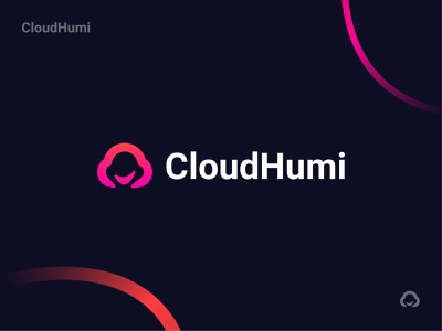 Logo Design - CloudHumi smile human person cloud branding design brand design logo design minimal icon logotype logo brand identity brand branding