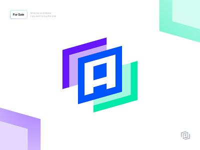 Logo Design - Ajamove layer layers icon branding design brand identity colorful color clean minimal brand design brand logotype logo letter a letter speed move