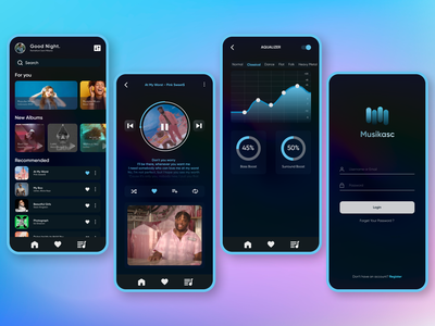 UI Music Player player ui ux typography design app mobile app design design app uiux ux design ui design music music art music player music app