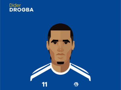 Drogba illustration creative chelsea football flat illustrator
