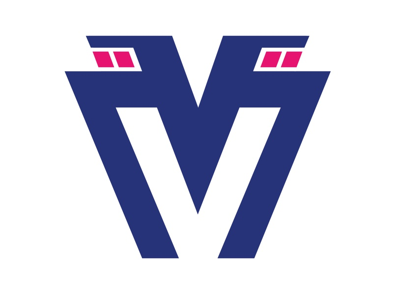 V-Moto brand motor motorsport motorbike frizvan fiv ivanlife vector branding illustration logo moto v-moto vmoto
