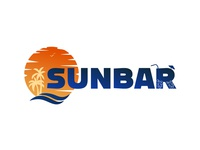 SunBar logotype branding vector frizvan logo ivanlife fiv coctail bar sunbar sunrise sunset sun