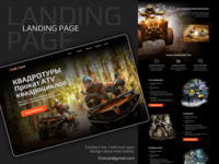 Landing page for - «RickRace» racing quadro atv website web ui design logo frizvan ivanlife fiv