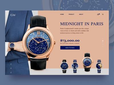 Golden Watch - Midnight in Paris Concept