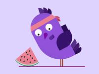 Bird And Watermelon