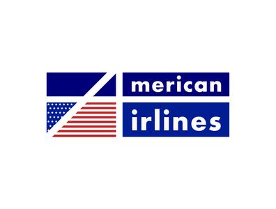 Concept Logo for - «American Airlines» american flag concept airlines american logotype flat typography branding vector illustration icon logo ivanlife fiv frizvan flying