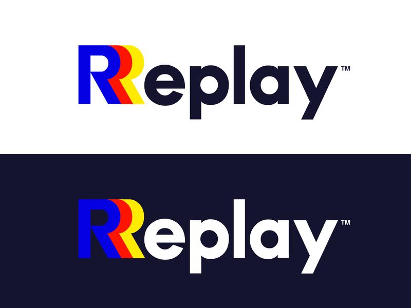 Logo - «Replay» logotype design branding vector illustration icon frizvan ivanlife fiv logos logo logotypes play logotype concept replay