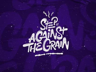 Against The Grain illustration logo design brush script brush lettering typography lettering hand lettering hand drawn custom type