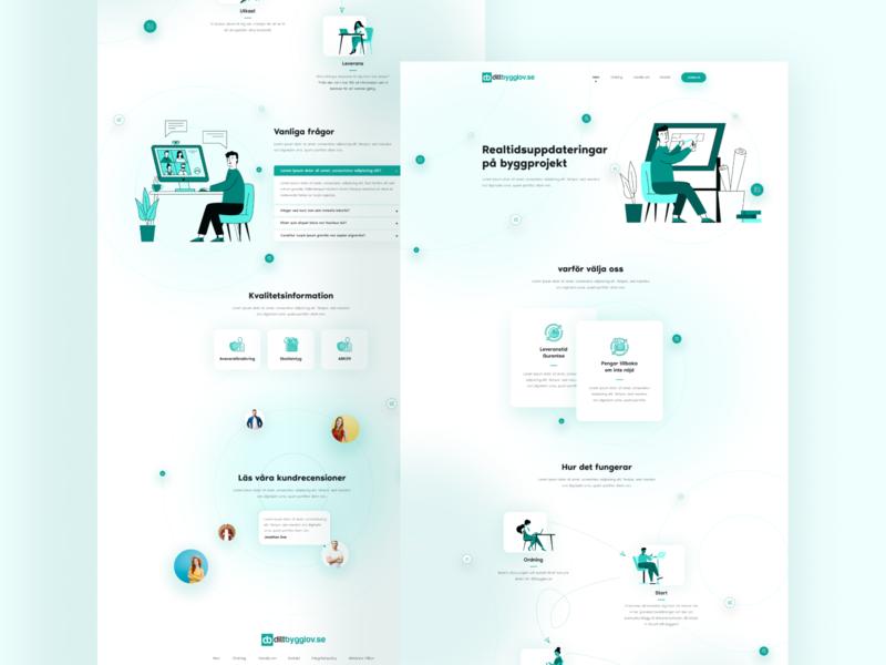 Construction Designer UI ui design web design website design landing page design landing page ui web ui design
