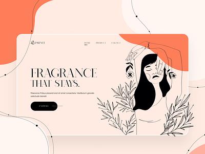 Perfume landing UI web design landing page ui web visual design ui design ui