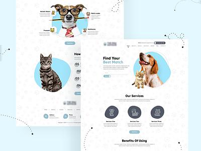 Pet Landing Page UI website design landing page design landing page ui web design design ui web visual design ui design