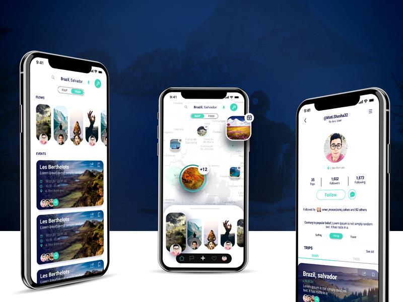 Trip Discovery App app design ux ui concept ui