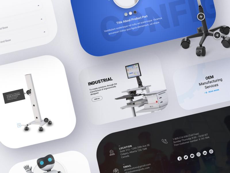 Ergonomic configurator ui ux web app design design ux ui concept ui