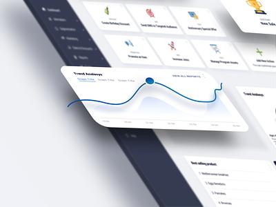 Dashboard UI Club Member Management app design design ux ui concept ui
