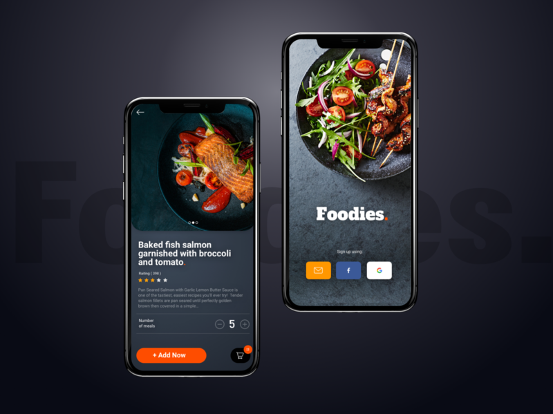 Foodiess Food Delivery - Mobile App resturant design app ux mobile design mobile app mobile ui food delivery app