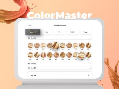 Hair dye touch screen kiosk application ux kiosk hairstyle hair salon touch screen touchscreen
