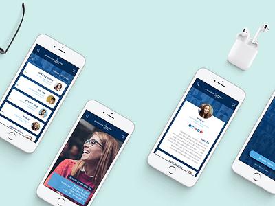 Academic App ui concept branding design app ux ui