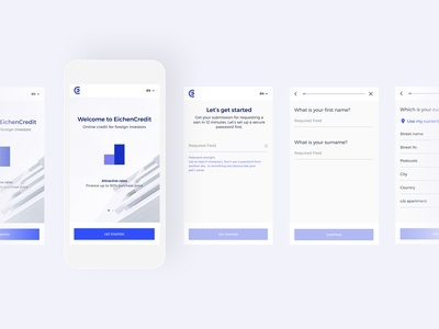 EichenCredit Interface Mobile