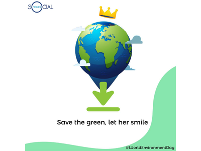 World Environment Day Post savetheearth adobeillustrator onlinepostdesign graphicdesign socialmonksinda socialmonkschennai worldenvironmentday