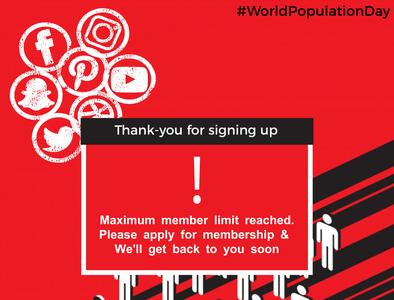 World Population Day- Social Media Post socialmediamarketing graphicdesign design socialmedia illustration socialmonkschennai