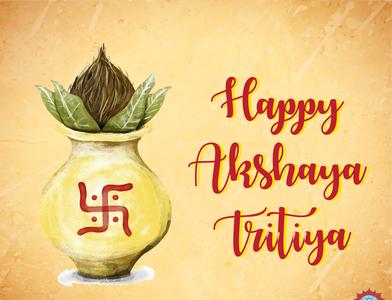 Wishing post for Akshaya Tritiya graphicdesign illustrator artwork socialmonks socialmonkschennai socialmedia wishingpost