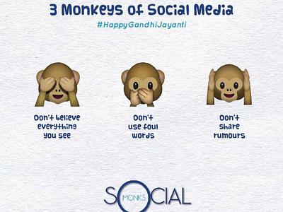 Gandhi Jayanti socialmonkschennai socialmedia 3monkeys gandhiji happy gandhi jayanti