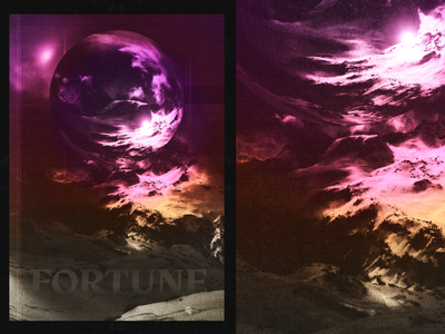 FORTUNE future space scanner artwork poster design texture scan alps mountains print collage poster