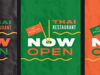 Thai Restaurant Opening Poster