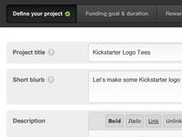 Project creation rebound