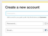 Create account rebound