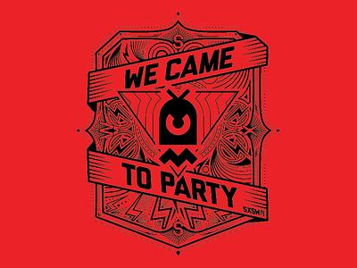 SXSW 13 shirt design sxsw chaotic moon shirt party