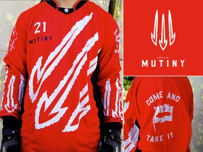 Finished Jersey and Logo  mutiny paintball jersey logo