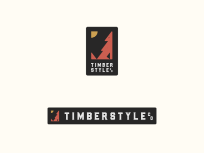 TIMBER STYLE wood style wolf timber branding badge logo