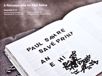 Paul Sahre Save Print retrospective poster