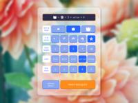 dailyUI004 - calculator for a flower bouquet