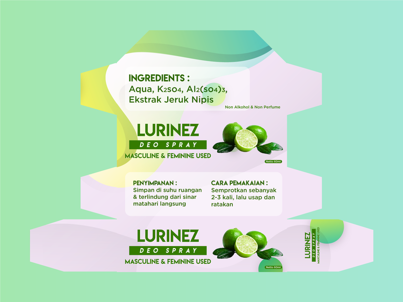 Lurinez: Deo Spray (Packaging Design)