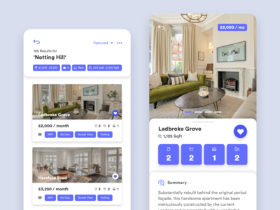 Real Estate App Concept design adobexd branding minimalism flat  design clean app user interface ui ui  ux uidesign card ui card app design real estate