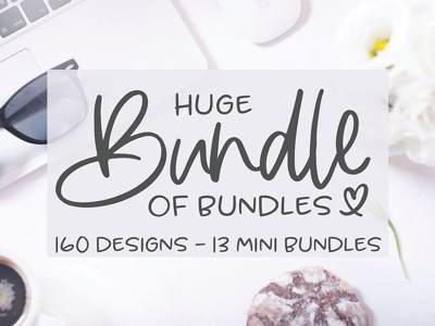 Huge Bundle of Bundles 💕 crafter silhouette cameo cricut design bundles svg bundle svg