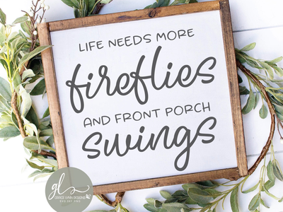 Fireflies And Front Porch Swings wood sign crafted silhouette cameo cricut porch quote porch sign cut file svg
