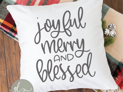 Joyful Merry And Blessed diy silhouette cameo cricut maker blessed merry joyful christmas cut file svg